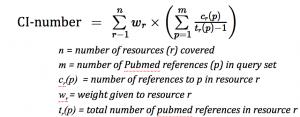 CI-number formula